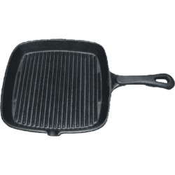 Patelnia żeliwna grillowa kwadratowa 230x230 mm, DE BUYER, RB-152300